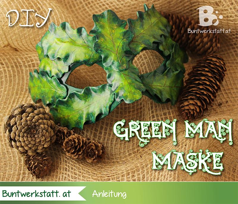 Green Man Maske – Anleitung mit Fimo