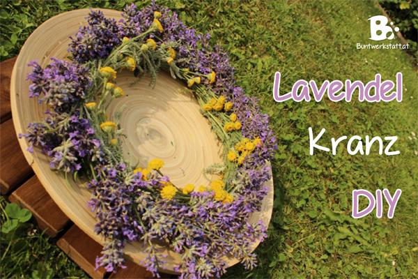 Lavendel Kranz binden