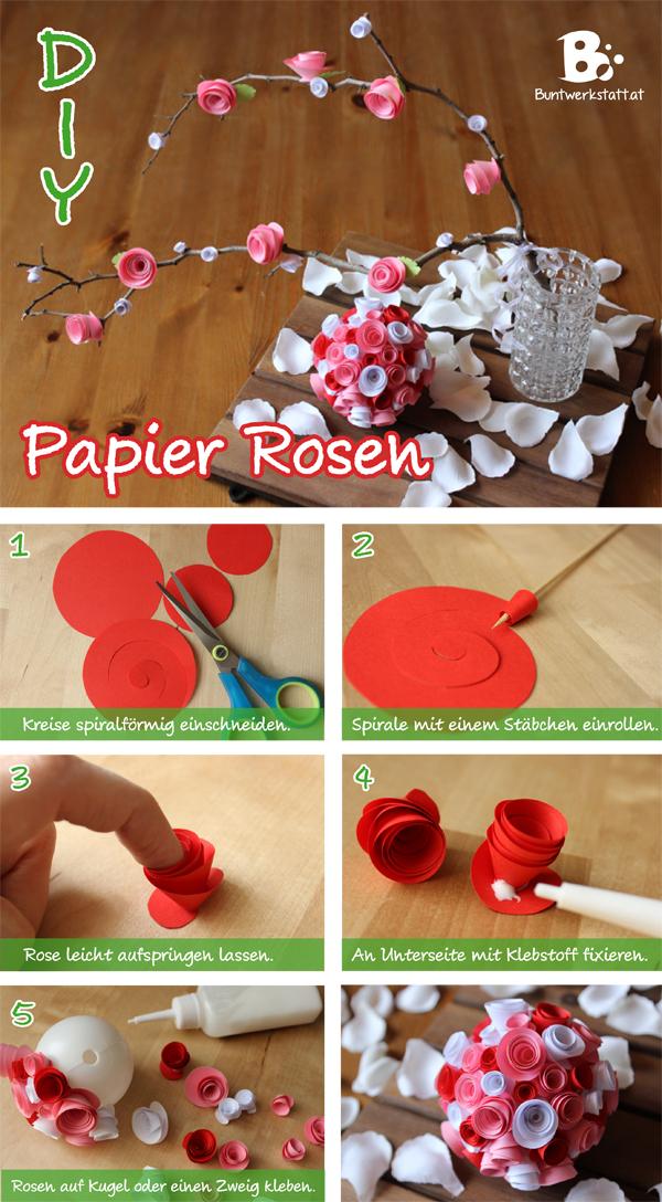 Papier Rosen Anleitung