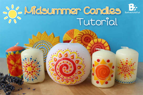 Decorate With Paint decorate candles for midsummer | colorful crafts