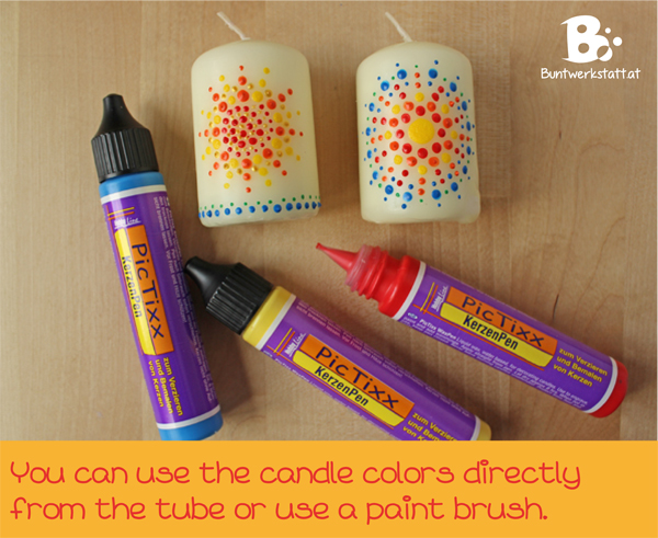 Decorate candles for midsummer colorful crafts for Decoration wax