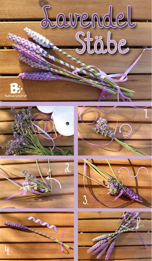 Lavendel Stäbe Anleitung