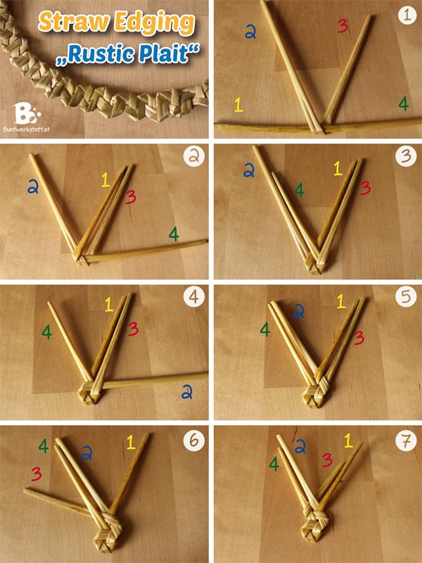 Straw Plaiting Rustic Plait Tyrolean Plait Colorful Crafts