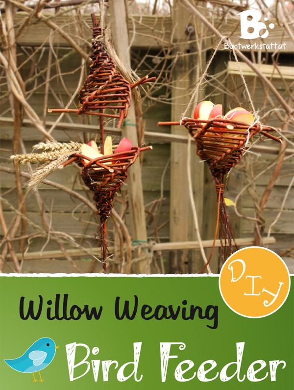 Bird Feeder DIY Willow Weaving Colorful Crafts