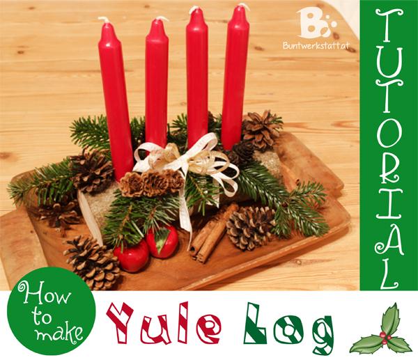 Yule log tutorial colorful crafts