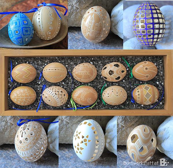 Gebohrte Eier