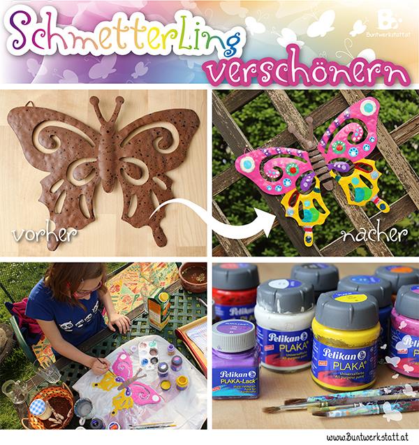 Gartendeko – Bunter Schmetterling