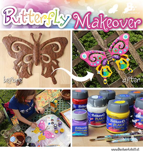 garden decoration butterfly colorful crafts