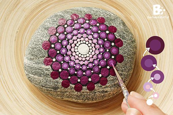 um den effekt des farbverlaufs noch weiter zu verstrken und dem muster etwas tiefe zu geben malt man kleinere punkte auf die punkte jeder reihe - Schone Muster Zum Zeichnen