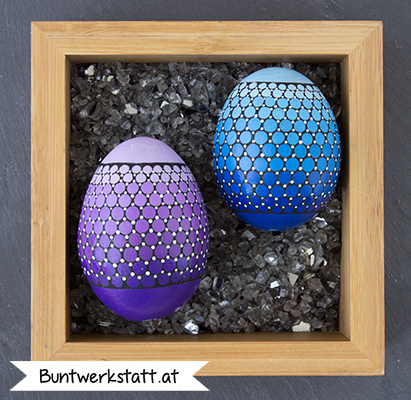 Anleitung - Ostereier malen mit Punkten / Farbverlauf
