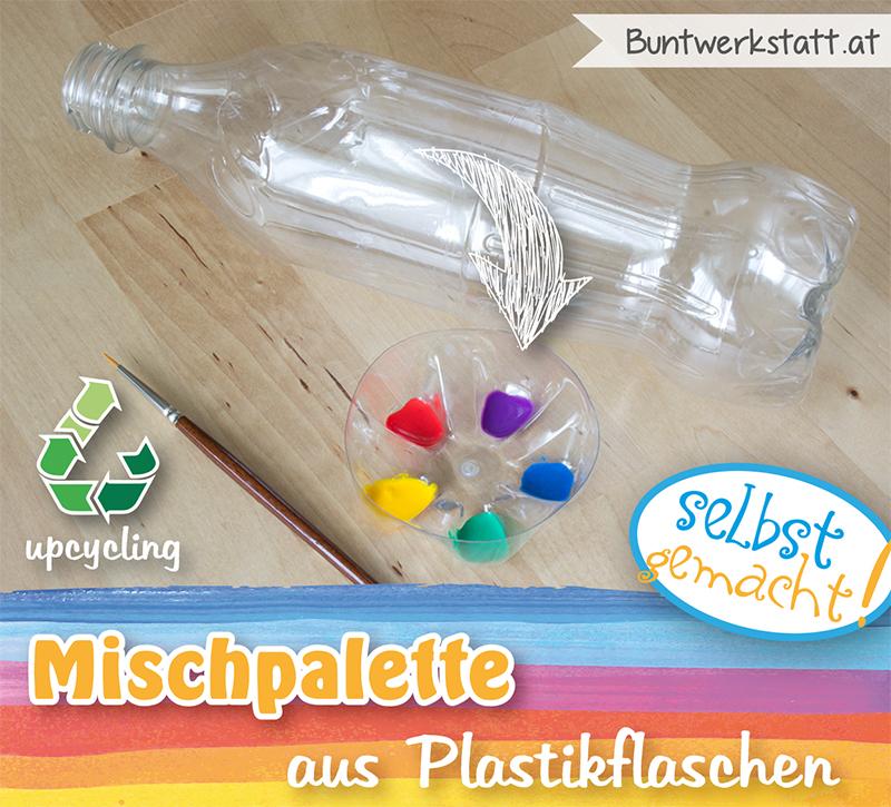 Upcycling: Mischpalette aus Plastikflaschen