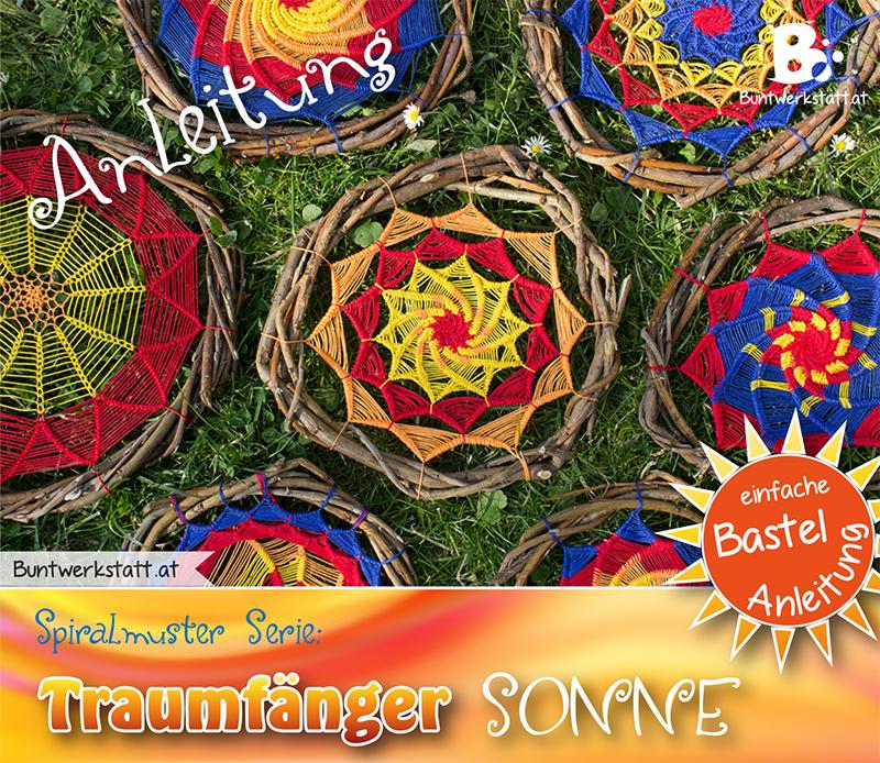 Anleitung für eine Traumfänger Sonne – Spiralmuster Serie